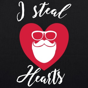 I steal Hearts - Hipster - EarthPositive Tote Bag