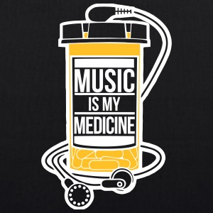 Music is my medicine - EarthPositive Tote Bag