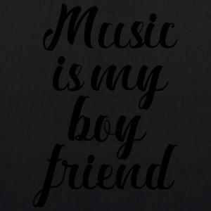 Music Is My Boyfriend - Bio stoffen tas