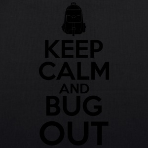 Keep Calm and Bug Out - Bio-Stoffbeutel
