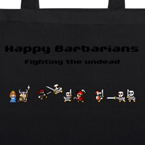 Happy Barbarians - Fighting the undead - EarthPositive Tote Bag