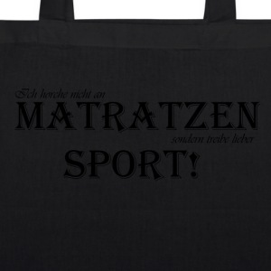 tobejo.de - Matratzensport - sort - Øko-stoftaske