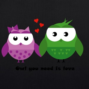 OWL you need is love - Borsa ecologica in tessuto