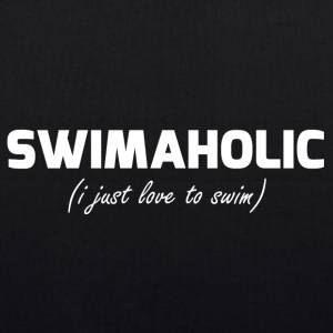 swimaholic (i just love to swim) - EarthPositive Tote Bag