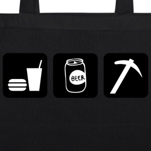 Eat Drink Beer Dig Rocks - EarthPositive Tote Bag