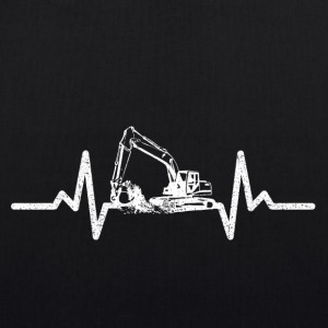 My heart beats for excavators! - EarthPositive Tote Bag