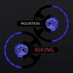 mountainbiking gears - MTB LOVE - EarthPositive Tote Bag
