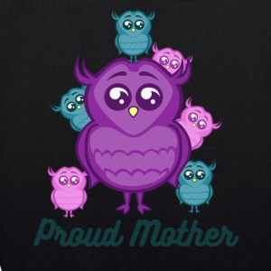 Proud Mother Owl With Baby Owls - EarthPositive Tote Bag
