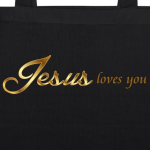 Jesus loves you - EarthPositive Tote Bag