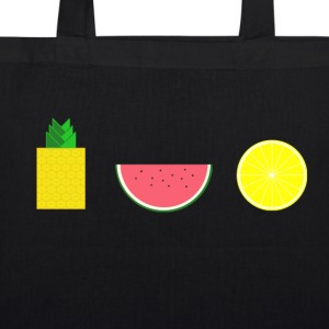 DIGITAL FRUIT pineapple lemon melon - EarthPositive Tote Bag