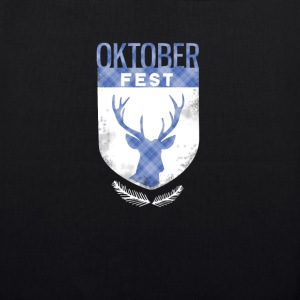oktoberfest-crest antlers checkered Bayern deer - EarthPositive Tote Bag