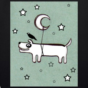 Dog ,Bird & Moon - Bio-Stoffbeutel
