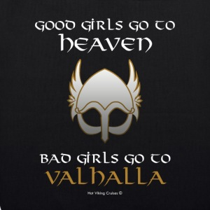Bad Girls Go to Valhalla - Bolsa de tela ecológica