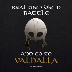 Real Men go to Valhalla - Bolsa de tela ecológica