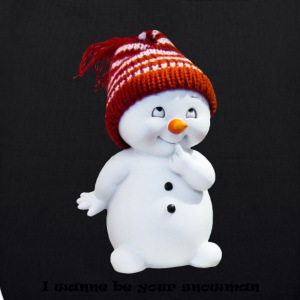 I wanne be your snowman - Bio-Stoffbeutel