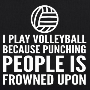 I play volleyball - EarthPositive Tote Bag