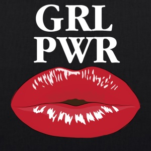 GRL PWR Power Girl Kiss T-Shirt - EarthPositive Tote Bag
