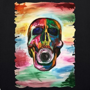 Colorful screaming skull - EarthPositive Tote Bag