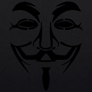 Vendetta Maske - Guy Fawkes (Anonymous) - Bio-Stoffbeutel