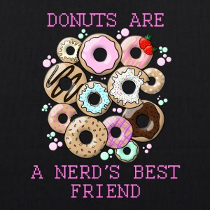Donuts are a nerd's best friend - EarthPositive Tote Bag