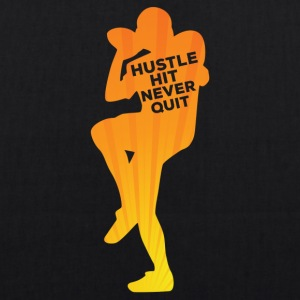 Football: Hustle hit Never Quit - EarthPositive Tote Bag