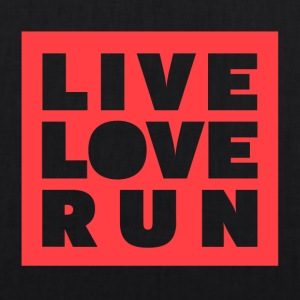 Live Love Run - Ekologisk tygväska