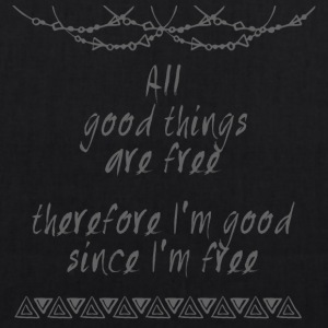 Hippie / Hippies: All good things are free there.. - Bio-Stoffbeutel