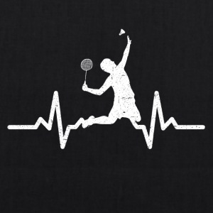 My heart beats for Badminton - EarthPositive Tote Bag