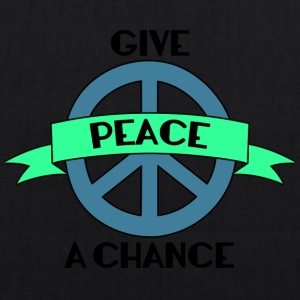 Hippie / Hippies: Give Peace A Chance - Øko-stoftaske
