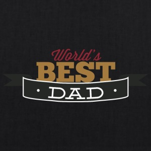 world best dad - EarthPositive Tote Bag
