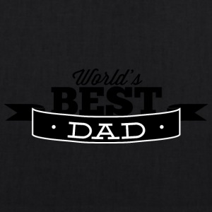 world best dad black - EarthPositive Tote Bag
