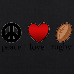 Peace Love Rugby - Bio stoffen tas