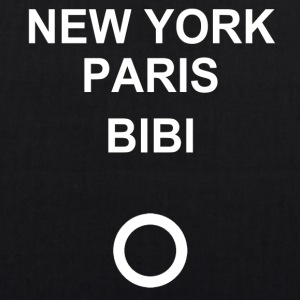 New York, Paris, Bibi! - Øko-stoftaske