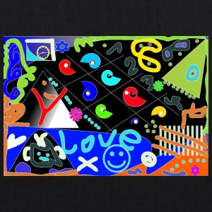 Love Pop Art design - EarthPositive Tote Bag
