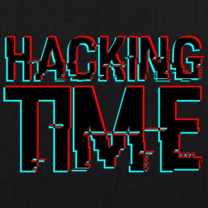 HACKING TIME HACKER - Bio stoffen tas