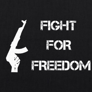 Fight for Freedom -WHITE - Bio-Stoffbeutel