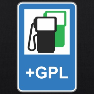 Road sign gas station green gpl - EarthPositive Tote Bag