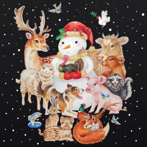 winter animals tas - Bio stoffen tas