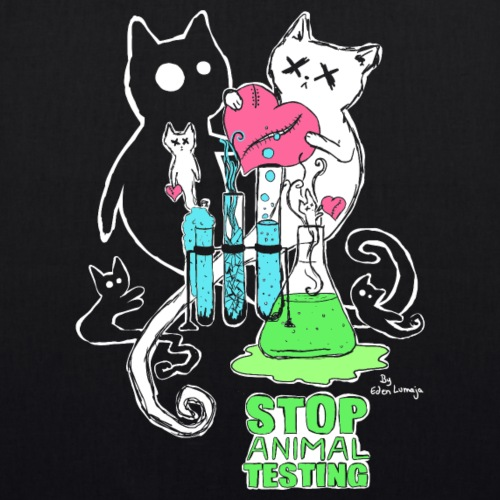 ❤ CHARITY SHIRT ❤ Stop Animal Testing - Bio-Stoffbeutel