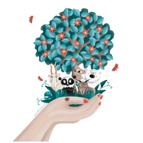 Zukunft - Save the Planet - Bio-Stoffbeutel