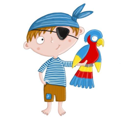 Kleiner Pirat mit Papagei - Bio-Stoffbeutel