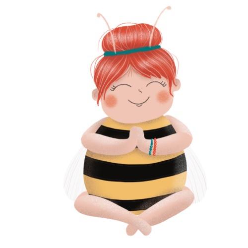 Biene am Meditieren - Bio-Stoffbeutel