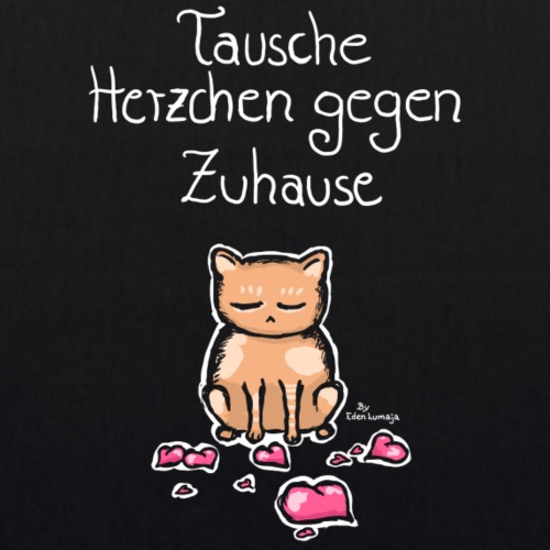❤ CHARITY SHIRT ❤ Herzchen Katze - Bio-Stoffbeutel