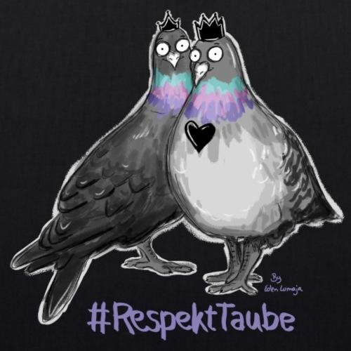 ❤ CHARITY SHIRT ❤ #RespektTaube - Bio-Stoffbeutel