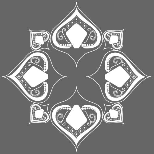 weißes Mandala - Bio-Stoffbeutel