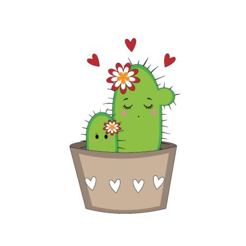 Kaktus Mama mit Kaktus Baby - Bio-Stoffbeutel