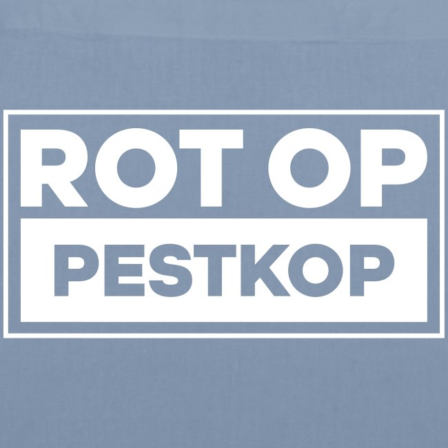 Rot Op Pestkop - Block White