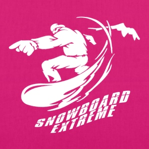 Snowboard EXTREME - Boarder Power! - EarthPositive Tote Bag