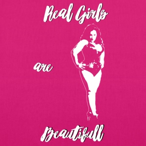 Real girls are beautiful (black) - Sac en tissu biologique