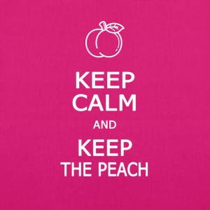 Keep calm and keep the peach - EarthPositive Tote Bag